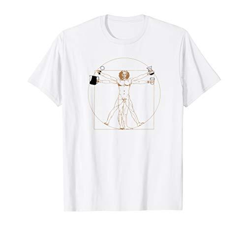 Vitruvianischer Kaffee Mensch Barista Leonardo Davinci T-Shirt