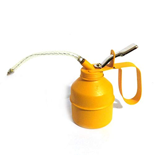 Aceitera de 300 cc dosificadora manual bomba aceite aceite recipiente tubo flexible