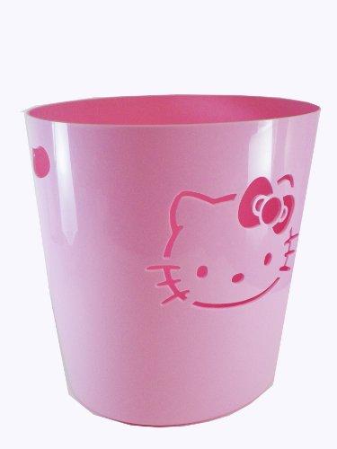 Pink Hello Kitty Trashcan - Girls Pink Waste Basket