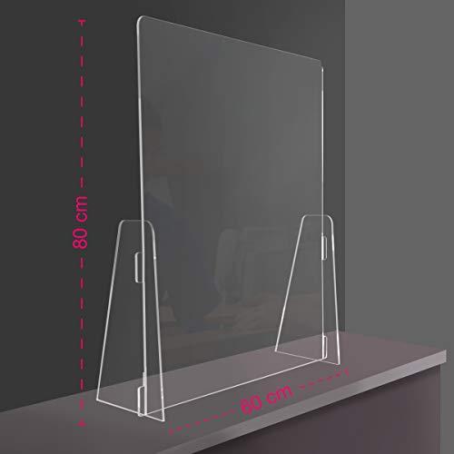 58x50cm Presidio Di Sicurezza Parafiato plexiglass Protezione In Plexiglass Anticontagio Trasparente 3mm