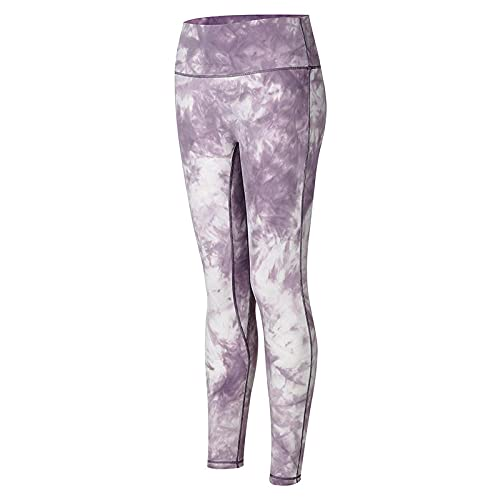 Leggings Push Up,Cross-fronteras Nuevo Parche Europeo y Estadounidense Honey Peach Pantalos Fitness Pantalones de Cintura Alta Hip Stretch Tight Pantalones de Yoga Mujeres-Morado Oscuro_L