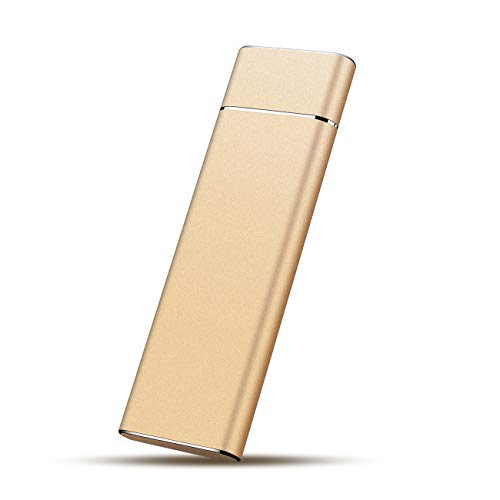 External Hard Drive HDD USB3.1 1TB External Hard Drive for PC, Mac, Desktop, Laptop, MacBook, Chromebook, Xbox One, Xbox 360 (1TB, Gold)