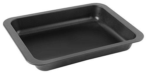Zenker Ofenbackform (37 x 5,5 x 27 cm) SPECIAL COOKING, rechteckige Ofenform mit Antihaftbebeschichtung, Backform mit extra hohem Rand (Farbe: Schwarz), Menge: 1 Stück