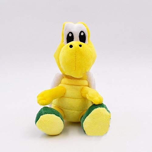 Juguetes, Peluches, muñecos de Super Mario para niños, Tropas de muñecos de Peluche, Tortugas de Peluche Rojas y Verdes.15 cm Verde