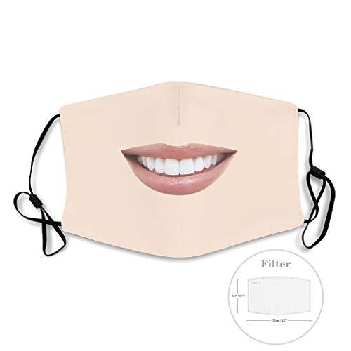 Lächeln Neuheit Lässig Hochwertiges Design wiederverwendbar für Draußen gehen Unisex Cool lustig White with 5 Filters