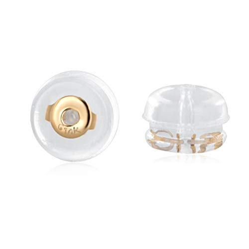 Real Gold Earring Backs Hypoallergenic Soft Clear Silicone Earrings Backings Replacements Secure Safety for Studs