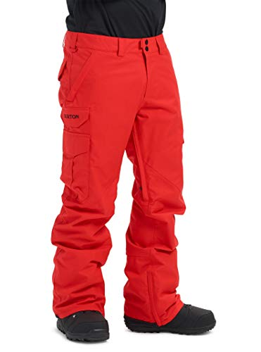 Burton Men's Cargo Snow Pant Regular Fit , Flame Scarlet, X-Large