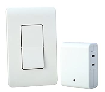 Woods Indoor Remote Control For Lights with Wall Switch  1 Polarized Outlet   White - 59773