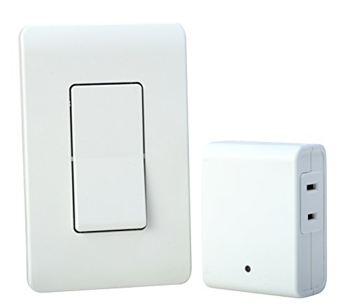 Woods Indoor Remote Control For Lights with Wall Switch (1 Polarized Outlet) , White - 59773