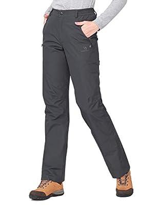 CAMEL CROWN Women's Snow Ski Pants Insulated Fleece Lined Waterproof Windproof Outdoor Sports Mountain Hiking Pants Dark Grey XXL