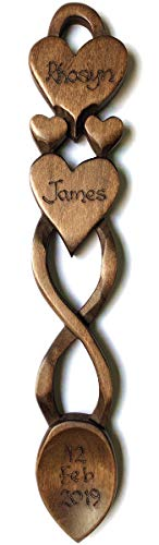 Two Hearts in One Love Spoon - Free Engraving of Names & Date