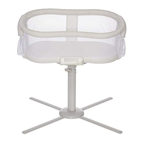HALO BassiNest Swivel Sleeper, Bedside Bassinet, Soothing Center with Nightlight, Vibration and Sound, Premiere Series, Pebble