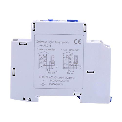 Interruptor temporizador, AC 220-240V Interruptor electrónico mecánico Interruptor temporizador de luz de escalera for electrodomésticos