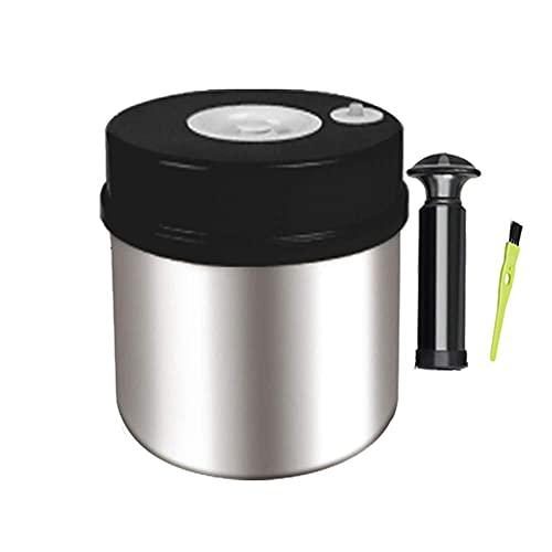 CXJC Tarros de almacenamiento de acero inoxidable 304 con cierre de goma en el interior, a prueba de humedad, suave, fácil de limpiar, contenedor de almacenamiento de alimentos para familia y viajes