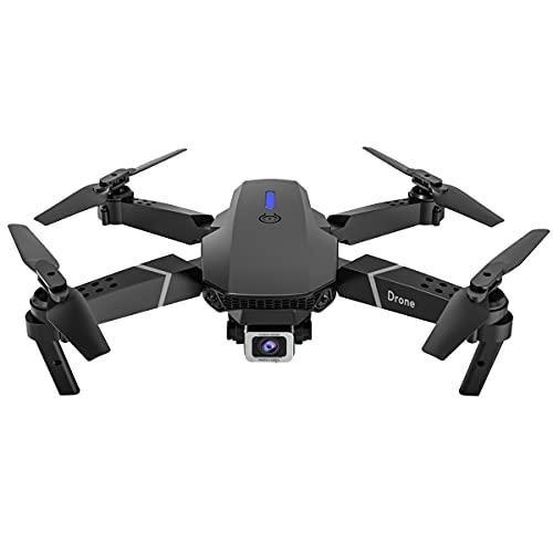Drohnen mit Kamera WiFi Drone mit Kamera 4K FPV Quadcopter Drone with Camera Weitwinkel HD Quadcopter mit Kamera 4K Höhe Faltbarer Halten Quadcopter Mini 360° Flip Kameradrohne (Dual Kamera)