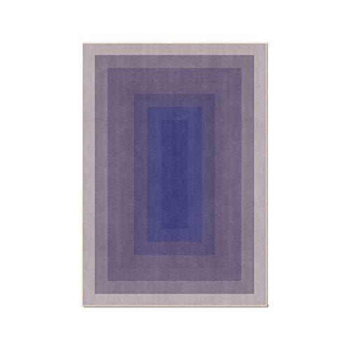 Upupto MatAlfombras Modernas Simples para Sala de Estar, Patrón Degradado Alfombra Dormitorio Decoración Alfombra Área de cabecera Alfombras,Azul,60 * 90CM
