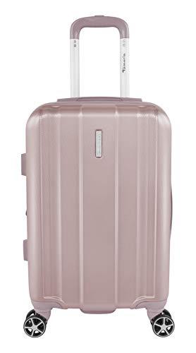 Tamaris Edition Kleiner Hartschalen Koffer, 4 Rollen Reisekoffer für Damen/Herren mit TSA-Zahlenschloss, 57,5x37x23,5 – 39L (Rosé)