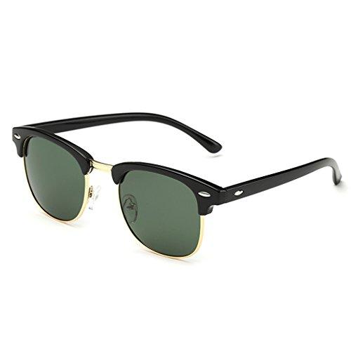 QHGstore Uomini Donne Sport Occhiali da sole polarizzati occhiali di protezione UV di vetro di Sun Matte Black / Verde