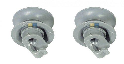 2x Korbrolle für Spülmaschine Oberkorb von BSH Bosch Siemens, Bauknecht, Whirlpool - Nr : 165313