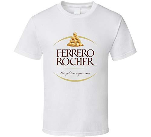 YUANLI Ferrero Rocher Chocolade Logo Lover Candy Bar T Shirt Wit - goud - M