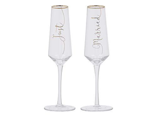 Creative Tops C000253 Just Married Flûtes à champagne en cristal