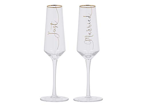 Creative Tops C000253 Just Married Flûtes à champagne en cristal