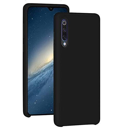 Funda para Xiaomi Mi 9/Mi 9 SE Teléfono Móvil Silicona Liquida Bumper Case y Flexible Scratchproof Ultra Slim Anti-Rasguño Protectora Caso (Black, Xiaomi Mi 9)