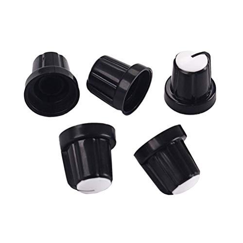 HEALLILY 5 unids Efecto Pedal Control amplificador Perillas de plástico para partes...
