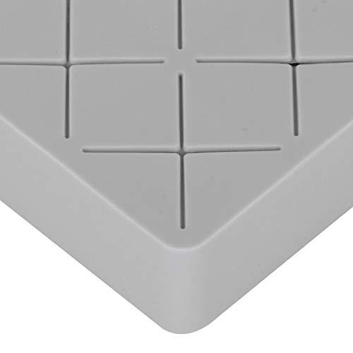01 Estuche de Almacenamiento de lápiz Labial, Soporte para lápiz Labial Antideslizante, Lavable para encimera de tocador(Gris)