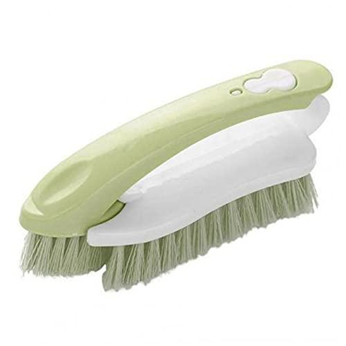 Ropa Zapatos Azulejos Cepillo De Lavado De Plástico Herramientas De Limpieza Portátiles Sin Esfuerzo Cepillo Removedor De Polvo De Mano Para Baño-Verde