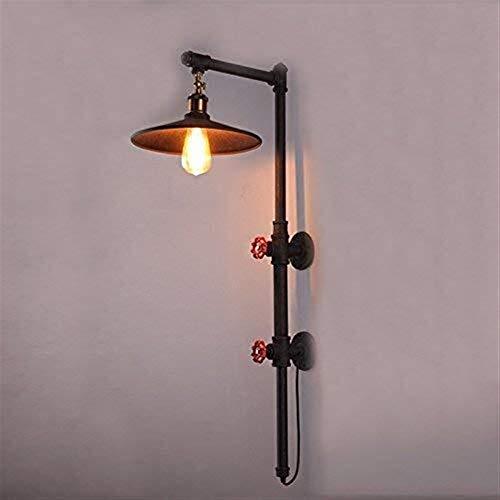 Warm Home Przemysłowy antyczny żyrandol w mosiężnej misce aranżacje retro design lampa ścienna metalowa lampa ścienna żelazny świecznik E27 oświetlenie wewnętrzne przedpokój balkon bar
