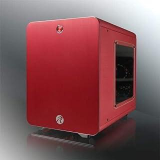 RAIJINTEK METIS Carcasa de Ordenador Cubo Rojo - Caja de Ordenador (Cubo, PC, Aluminio, SPCC, Mini-ITX, Rojo, 1,5 mm)