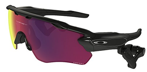 Oakley Men's Radar Shield Sunglasses (Polarized Road Lens with PACE real-time voice activated coaching system, Polarized Road Lens with PACE real-time voice activated coaching system)