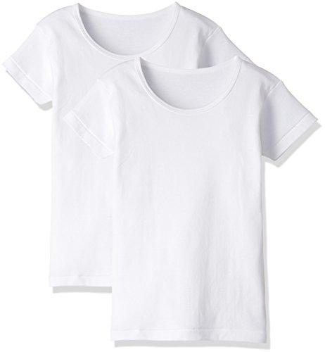 [グンゼ] インナーシャツ あったか厚地 綿100% 半袖丸首 2枚組 ボーイズ ホワイト 日本150 (日本サイズ150相当)