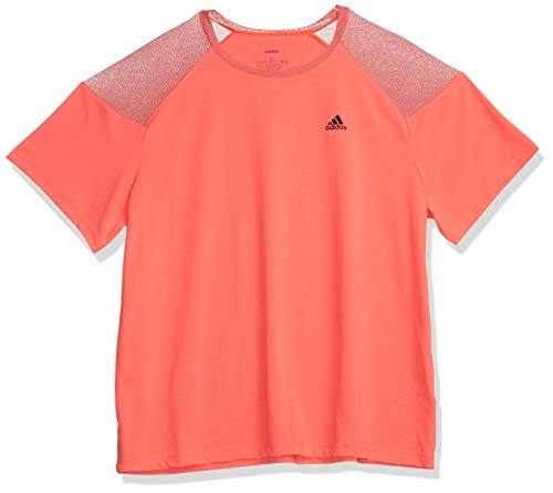 adidas Unleash Confidence Camiseta, Señal Rosa/Negro, L para Mujer