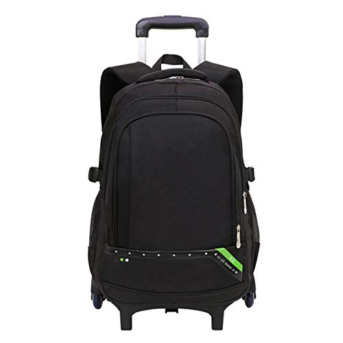 Xingsiyue Children's Trolley Backpack - Rolling Wheeled School Bag with Six Wheels for Teens Travel Bookbag Luggage (Green)