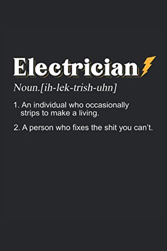 Notebook: electrician, electronic technician, electrical engineering: 120 lined pages - notebook, sketchbook, diary, to-do list, drawing book, for planning, organizing and taking notes.