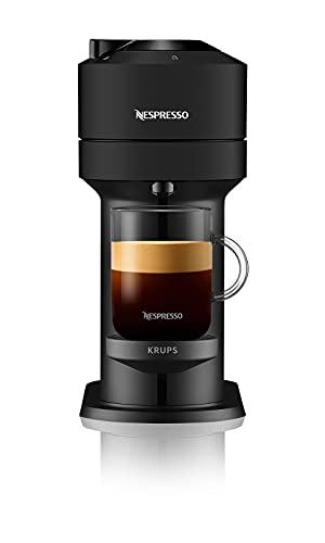 Krups Vertuo Next XN910N Nespresso, Macchina del caffé, lettura del codice a barre delle capsule, 30 secondi di riscaldamento dell'acqua, Spegnimento Automatico, Connettività Bluetooth e Wi-Fi, Nera
