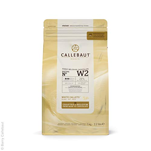 Callebaut W2 28% pepitas Chocolate Blanco callets