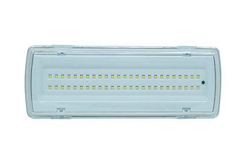 SLS SHOP Lampada Di Emergenza Con 50 Led Completa Di Incasso E Batteria Luce Bianca 4W