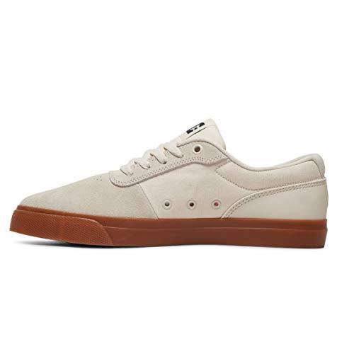 DC Shoes Switch, Zapatillas de Skateboard Hombre, Negro (White/White/Gum Hwg), 39 EU
