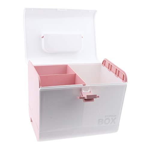 non-brand Sharplace Mallette/Coffrets/Boîte à Maquillage, Bijoux et Cosmétique Beauty Case de Rangement - Rose
