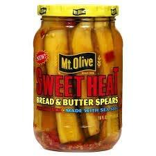 Mt Olive Sweet Heat (Bread & Butter) 16 oz Jar Spears