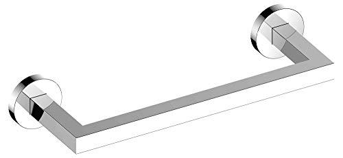 KEUCO Handtuchring aus Metall, hochglanz-verchromt, 36cm breit, eckig, für Badezimmer und Gäste-Toilette, Wandmontage, Handtuchstange, Edition 90