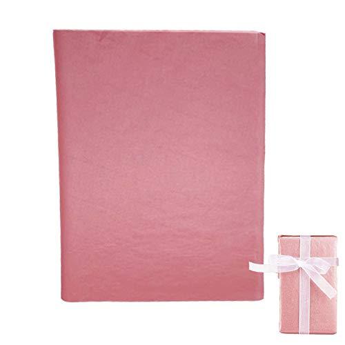 TSKDKIT 100 Blatt Rosa Geschenkpapier Packpapier Rosa Seidenpapier Verpackungsmaterial zum Basteln und zur Dekoration Geburtstag Hochzeit Taufe Weihnachten(35cm x 50cm)