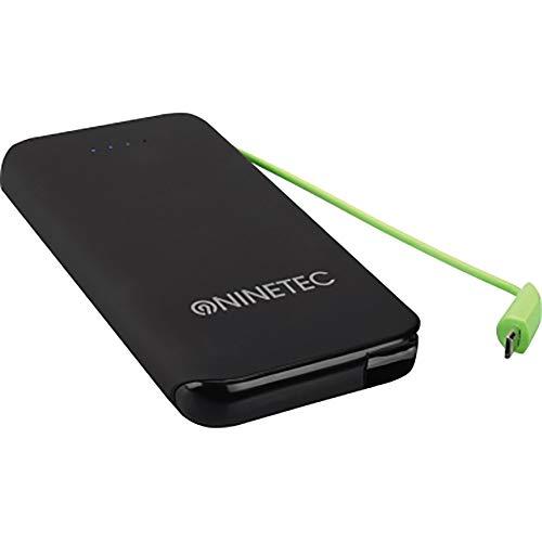 NINETEC NT-610 Powerbank mit Micro-USB Ladekabel Akku Ladegerät 10000mAh Soft-Touch Oberfläche für Samsung, HTC, Motorola, Sony Xperia, Nokia, PSP, LG, Kindle & viele weitere Geräte