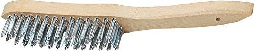Promat 841015 Brosse métallique 5reihig l.290 mm d.0,35 mm fil en fonte PROMAT avec dos en bois