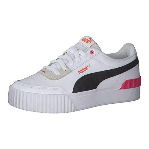 PUMA Damen Carina Lift Sneaker, Black White Glowing Pink, 41 EU