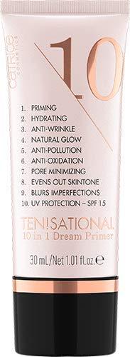 Catrice Ten!sational 10 in 1 Dream Primer, Grundierung, nude, für Mischhaut, Anti-Aging, grundierend, schützend, glättend, strahlend, natürlich, vegan, ohne Alkohol, ohne Parabene (30ml)