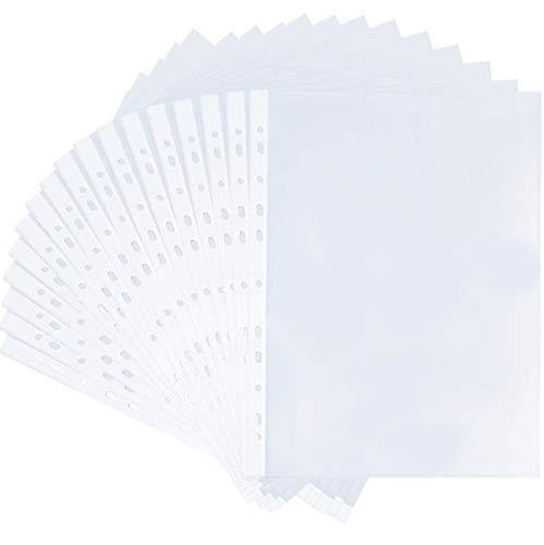 100 Stück prospekt-hüllen,premium klarsichtfolien,klarsichtfolien a4,Prospekthüllen Stärke 0,07mm,für Post-Karten, Fotos, Dokumente